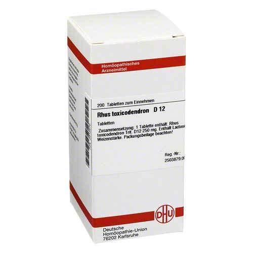 DHU Rhus toxicodendron D12, 200 St. Tabletten