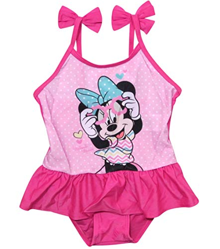 Minnie Mouse Bademode Badeanzug Mädchen Disney (Fuchsia, 110)