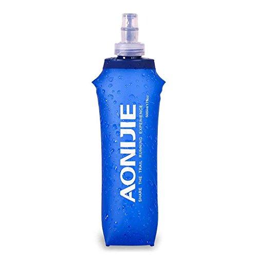 Lorjoy Deporte Plegable Bolsa de Agua de plástico Blando Botella de Bebida de 250 ML / 500 ML / 170 ML Botella Sport portátil