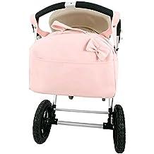 Bolso polipiel carrito bebe. Color rosa. Personalizado con nombre bordado