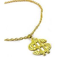 Oblique Unique® Kette Dollar Zeichen Rapper Goldene Millionär Gangster Kette - Satter Goldlook - Perfekt zum Protzen