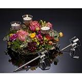 Teelichthalter Teelichtglas Kerzenhalter Glas 10 cm Stick für Gestecke