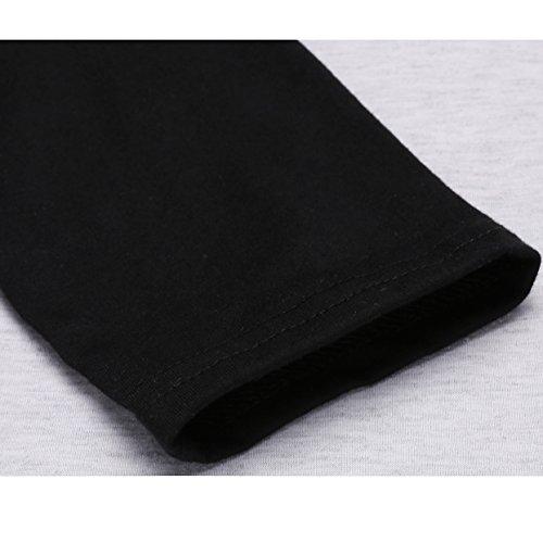 Nilover -  Maglia a manica lunga  - Donna Gray Black