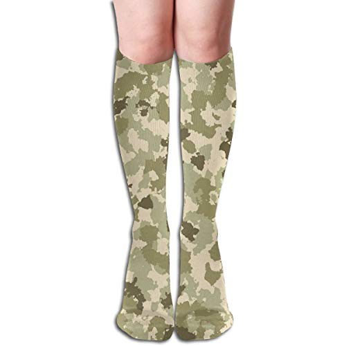 BBABYY Compression Socks Graduated Stockings For Men & Women,Old Fashioned Camouflage Pattern Classical Jungle Survival Theme,Prevents Swelling,Travel,Everyday Use -