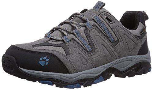 Jack Wolfskin Mountain Attack TEXPORE M, Scarpe da Trekking Medio Uomo, Grigio (Grau (Moroccan Blue 1800)), 46