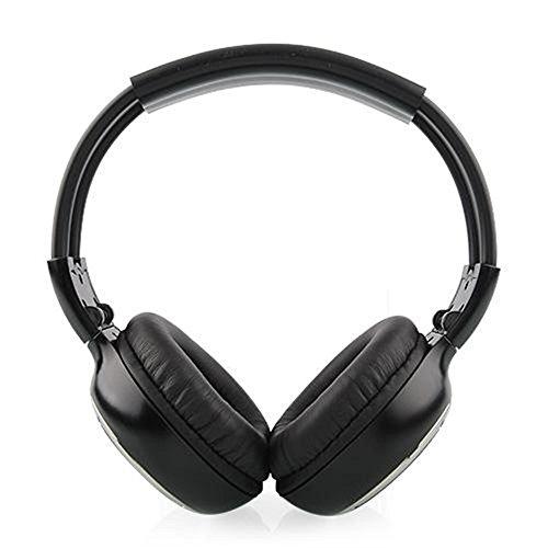 Mvpower Universal 2-Kanal-IR Kopfhörer Stereo Infrarot Kabellos Funk schnurloser Kopfhörer für Multimedia Auto Monitor (1 PCS)