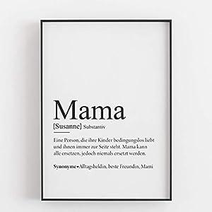 Mama Geschenk Muttertagsgeschenk personalisiert Geburtstagsgeschenk Mutter Defintion Kunstdruck persönlich - ungerahmt