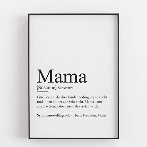 Mama Geschenk Muttertagsgeschenk personalisiert Geburtstagsgeschenk Mutter Defintion Kunstdruck persönlich - ungerahmt -