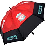 Liverpool FC Tour Vent Double Canopy Golf Umbrella - Black/Red