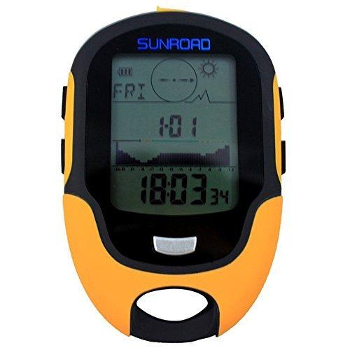 SUNROAD FR500 Multifunktions LCD Digital Hoehenmesser Barometer Kompass Thermometer Hygrometer Wettervorhersage LED Taschenlampe