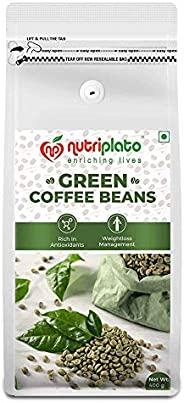 Nutriplato-enriching lives Green Coffee Beans 400 g- Weightloss Management ; Source of Antioxidants ; In Coffe