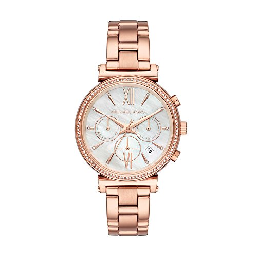 Michael Kors Women's 'Sofie' Quartz Stainless Steel Casual Watch, Color:Rose Gold-Toned (Model: MK6576)