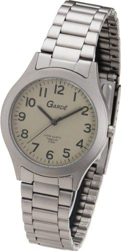 Ruhla Gardé Germany 1320–214023–Armbanduhr Herren, Armband aus Titan Farbe grau