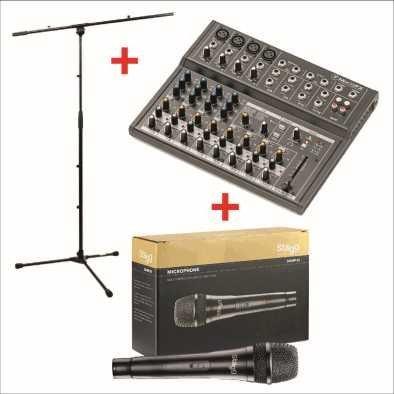 mix12fx Bundle con trípode y micrófono
