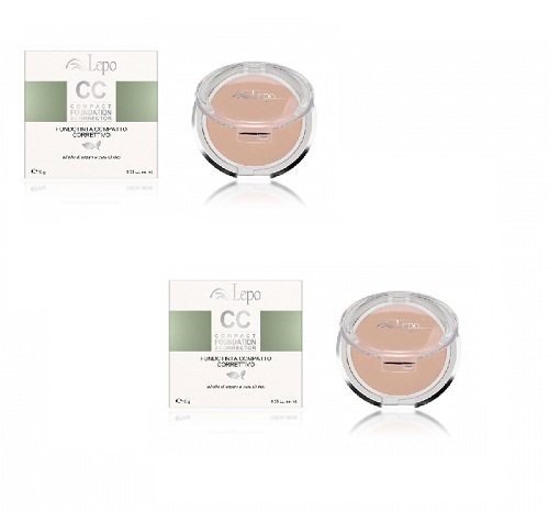 lepo-2-packs-of-cc-compact-foundation-corrector-no-3-blends-protects-from-uv-and-minimize-imperfecti