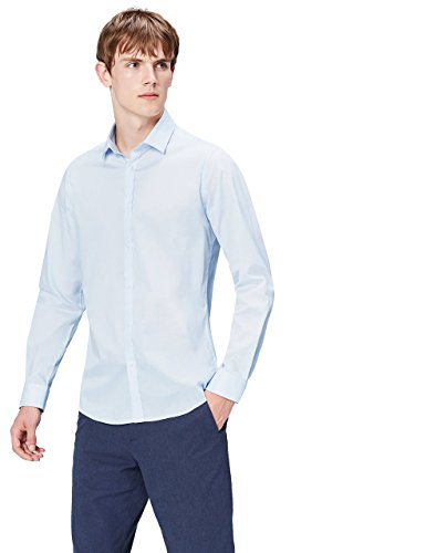 Find charlie opp, camicia uomo, blu (sky blue), x-large
