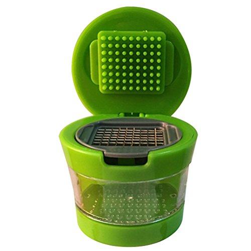 Salat Shredder (Knoblauch Zoom Chopper Praktische Home Kitchen Tool Kit Knoblauch Presser Chopper Multifunktions manuell Zerkleinerer Mixer Schneide Handheld Küche Shredder Gemüse Salat Obst Cutter grün)