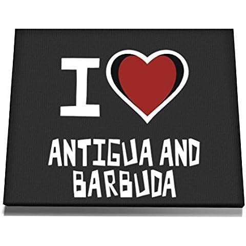 Teeburon I love Antigua And Barbuda Tela muro arte 12