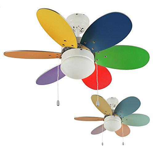 MiniSun - Divertido ventilador de techo, faro con luz - para frío...