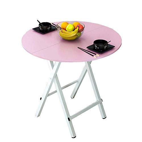 Verstellbarer Runder Café Tisch (BJYG Klapptisch Runder Tisch, faltbar, tragbar, Restaurant Bar Cafe Commercial Dining)