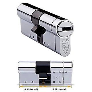 Avocet ABS - Sicherheitsschloss mit Eurozylinder - Bruchsicheres Schloss - Sold Secure Diamond Standard - 3 Sterne - Chromfarben - 35 mm innen x 35 mm außen