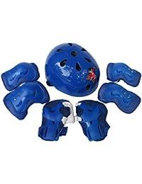 Los niños 7pcs autobalanceo Casco de rodillos,Longra sistemas de la Protección del cuerpo Deportes (Azul)