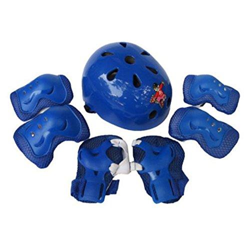 Los niños 7pcs autobalanceo Casco de rodillos,Longra sistemas de la Protección del cuerpo Deportes