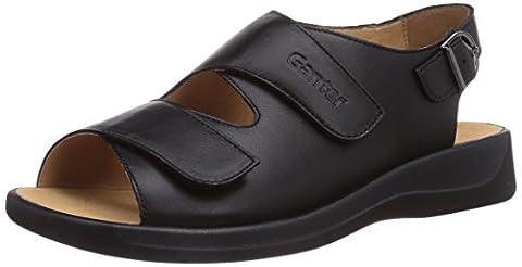 Ganter MONICA, Weite G, Damen Sandalen, Schwarz (schwarz 0100), 40 EU (6.5 Damen UK)