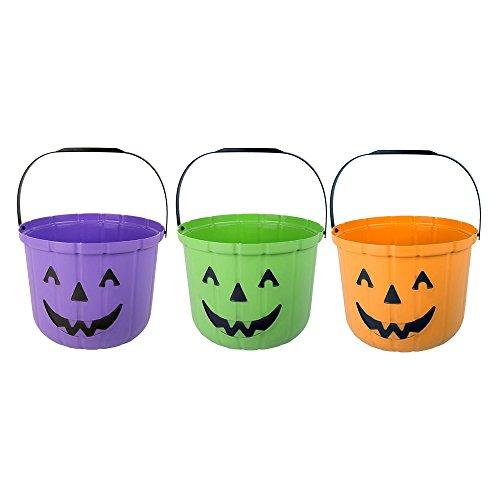 M-48381 Cubo de la Calabaza de Halloween Para El Truco o la Invitación, Colores Surtidos