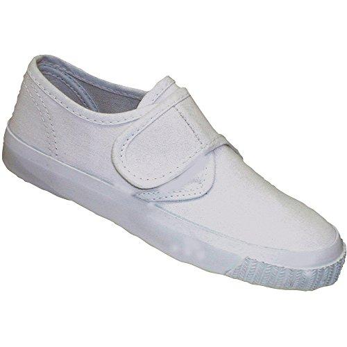 Mirak schoolrite garçons Filles Velcro Tissu Blanc