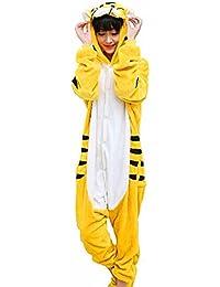 Samgu-tigre animal Pyjama Cospaly Party Fleece Costume Deguisement Adulte Unisexe