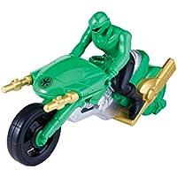 Power Rangers 38073 - Personaggio Power Rangers con moto Super Megaforce, colore: Verde - Ranger Verde