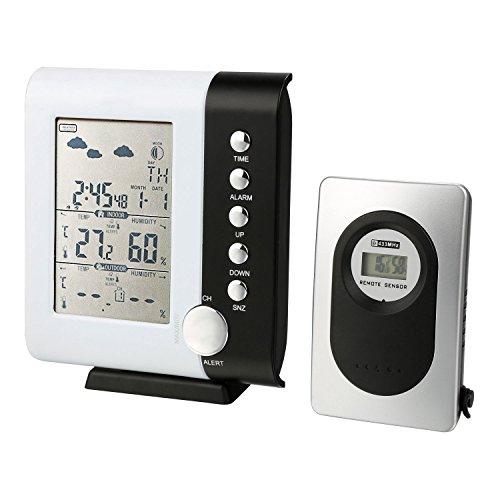 Thermomètre intérieur extérieur station météo Thermo hygromètre avec capteur extérieur sans fil écran LCD pour la maison jardin Bureau