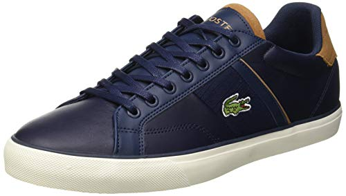 Lacoste Herren Fairlead 119 1 CMA Sneaker, Blau (Navy/Light Brown 4c1), 43 EU
