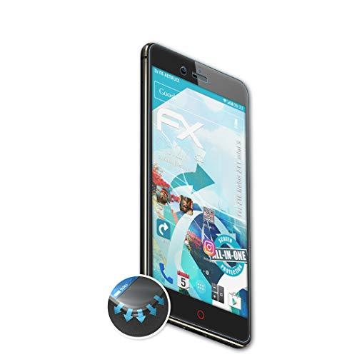 atFolix Schutzfolie passend für ZTE Nubia Z11 Mini S Folie, ultraklare & Flexible FX Bildschirmschutzfolie (3X)