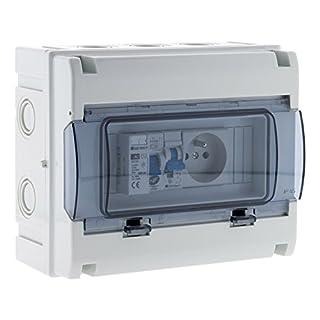 Zenitech 150217 Coffret Électrique Étanche IP65 8 Modules, Blanc