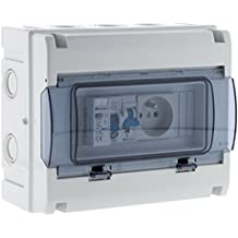 Zenitech 150217 Coffret Électrique Étanche IP65 8 Modules Blanc