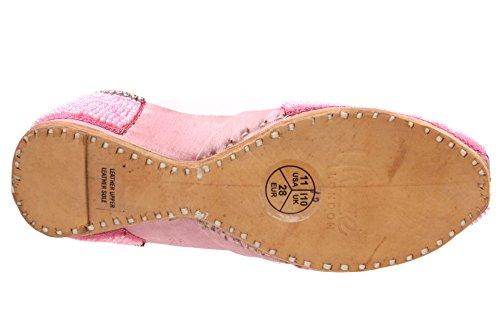 Unze Leno' Kinder Leder Traditionelle Indianer Khussa Pumpen Schuhe - CS218 Pink