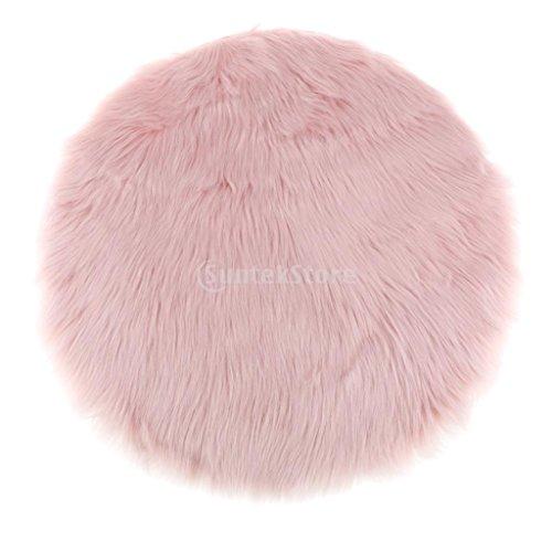 Fenteer Kunstfell Bettvorleger Sitzauflage Teppich Matte für Wohnzimmer Schlafzimmer, 9 Farben - Hell-Pink