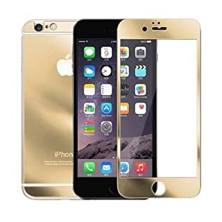 AcenX Extra Mirror Bright Plated Film Premium Tempered Protective Mirror Effect Glass Film Screen Protector for iPhone 6 Screen Protector Skin(Gold)