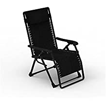 Forzza Krabi Folding Outdoor Recliner Chair (Black)