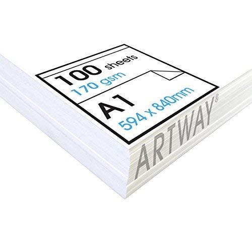 Artway Studio - Zeichenpapier für Trockene Zeichen- und Maltechniken - säurefrei - Lose Blätter - 170 g/m² - A1 (100 Blatt)