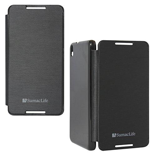 SumacLife Premium Flip Cover Case for HTC Desire 816G (Black)