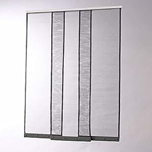 Moustiquaire rideau à bandes verticales H230 x L130