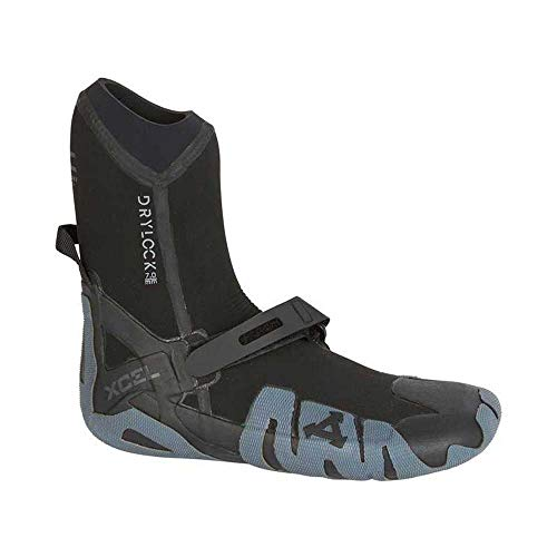 Xcel Wetsuits - Xcel Drylock 7mm 2018 Round Toe Wetsuit Boots - Black/ Grey (Xcel Surf)