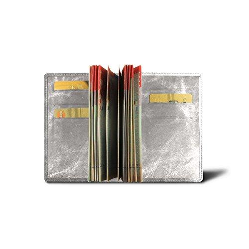 Lucrin - Luxus-Pass hülle - Silber - Glänzendes Leder