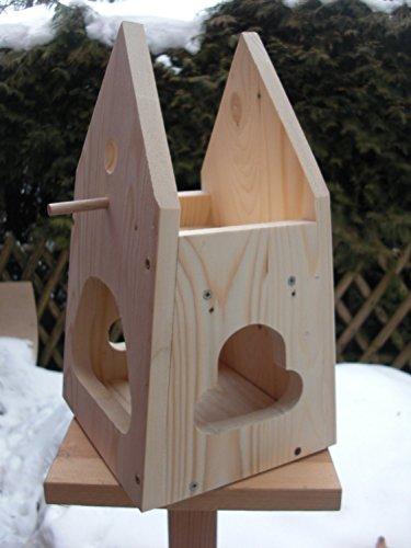 Nistkasten(NB2)-mit Vogelfutterhaus zum selbst bauen-Bausatz-Vogelhaus Garten Deko - 3