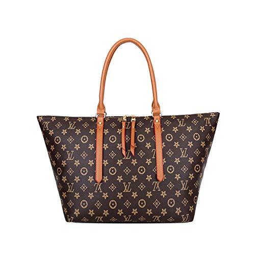 Mode tasche frauen handtaschen alte blume tasche schulter diagonale tasche wild große kapazität Mummy tasche einkaufstasche wickeltasche (braun, 32.5 * 29 * 18cm)