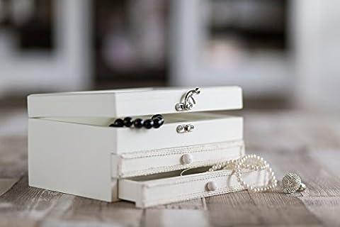 Mariage Blanc en bois dur Boîte à bijoux