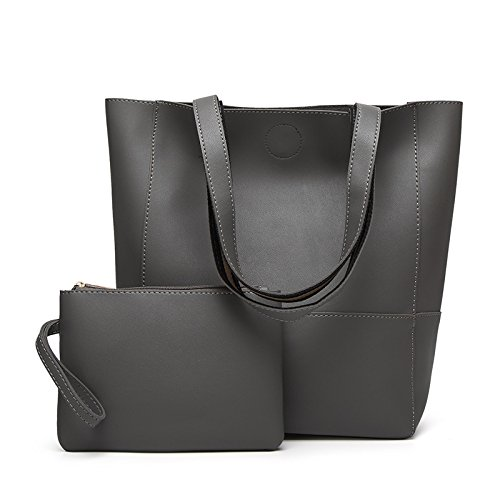 GUANGMING77 Borsa _ Benna Sacco Cuciture Colore Tote Bag Hit Dice Madre Bag,Marrone Grey